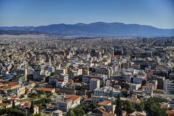 Athens skyline from the Acropolis