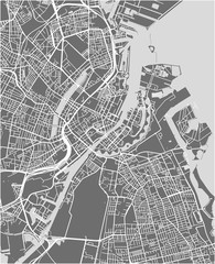 map of the city of Copenhagen, Denmark