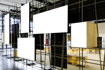 Many frames on a white background