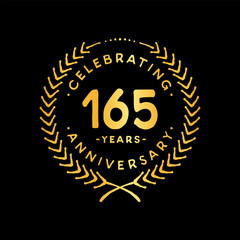 165 years design template. 165th vector and illustration