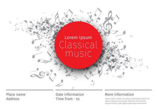 Horizontal Music Poster Layout