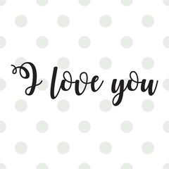 Romantic Valentines day love greeting card with hearts. Vector illustration - love day. Card for February 14. The inscription I love you. Be my valentine. Calligraphic inscription
