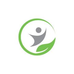 Natural wellness logo icon design template vector