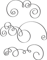 Set of 3 decorative swirls for your design