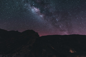 Milkyway and astrophotography at night, Tenerife Spain