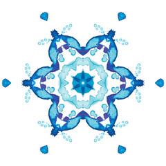 kaleidoscope watercolor snowflakes