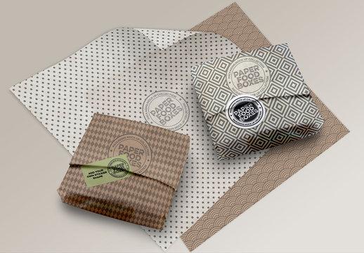 Sandwich Paper Wrapper Mockup