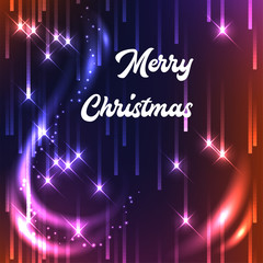 Christmas magic background with sparks.