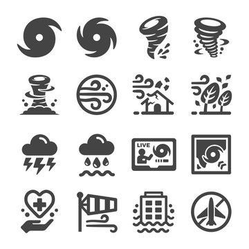 storm,huriicane icon set