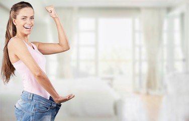 Weight Loss Woman, isolated on  background
