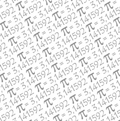 The Pi symbol mathematical constant irrational number, greek letter pattern background