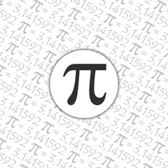The Pi symbol mathematical constant irrational number, greek letter