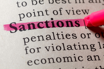 Wall Mural - definition of sanctions