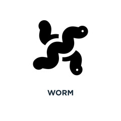 Worm icon. Simple element illustration. Earthworm concept symbol