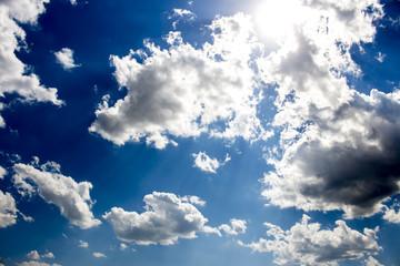 Cumulonimbus clouds, dramatic sky