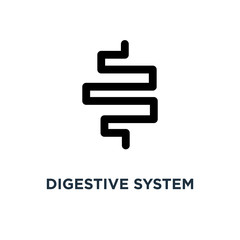 Digestive system icon. Simple element illustration. Digestive sy