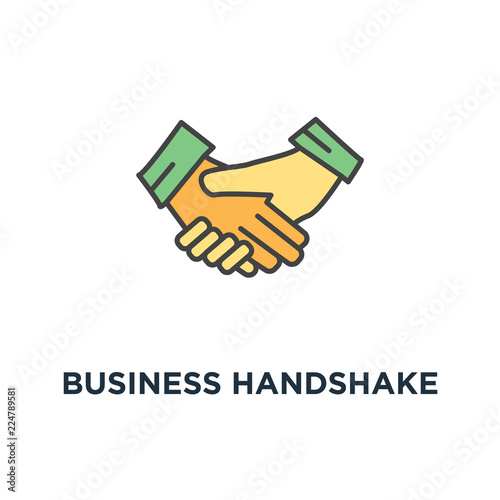 Business Handshake Or Shaking Hands Contract Agreement Icon Good