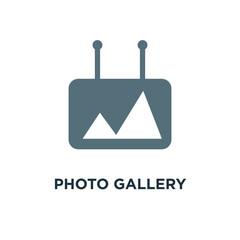photo gallery icon. photo gallery element concept symbol design,