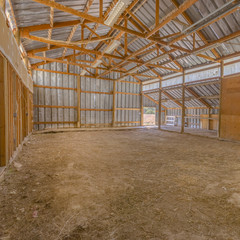 Inside view of a rustic old Barn