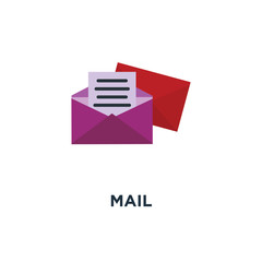 mail icon. send email concept symbol design, envelope, message s