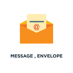 message , envelope icon. mail , send letter concept symbol desig