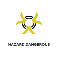 hazard dangerous icon. biohazard concept symbol design, danger s