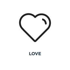 love icon. heart linear concept symbol design, vector illustrati