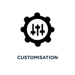 customisation icon. customisation concept symbol design, vector