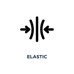 elastic icon. elastic concept symbol design, vector illustration