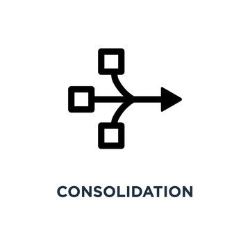 consolidation icon. consolidation concept symbol design, vector