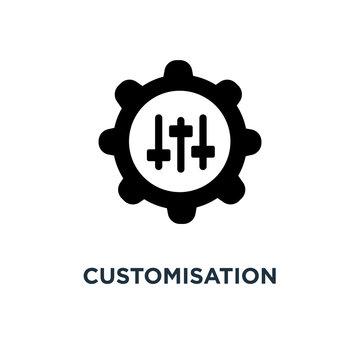 customisation icon. customisation concept symbol design, vector