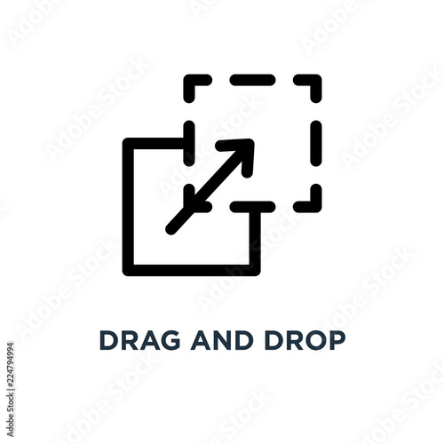 quotdrag and drop icon drag and drop concept symbol design