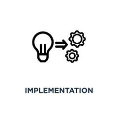 implementation icon. implementation concept symbol design, vecto