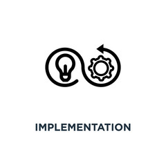 implementation icon. implementation concept symbol design, vecto