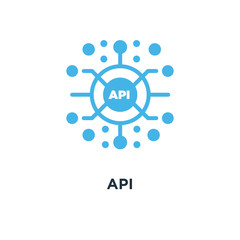 api icon. application programming interface concept symbol desig