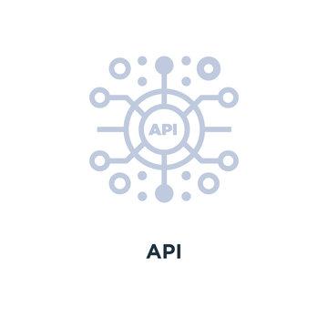 api icon. application programming interface concept symbol desig