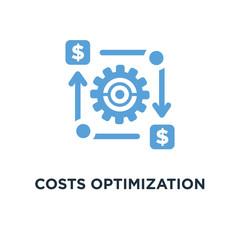 costs optimization icon. business efficiency concept concept sym