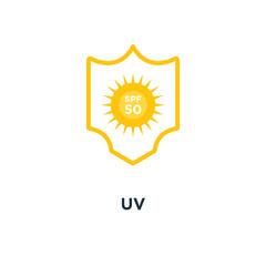 uv icon. sun protection spf 50 concept symbol design, vector ill