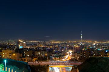Tehran Landscape Night, Iran - Northern View