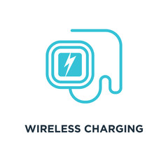 wireless charging station icon. wireless charging station concep