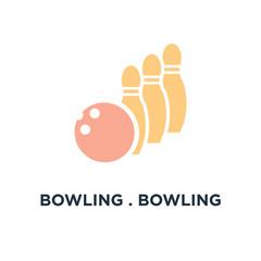 bowling . bowling ball icon. bowling game, sport concept symbol
