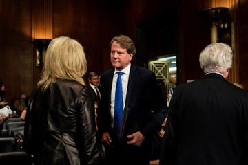 White House Counsel Don McGahn is seen at testimony of Judge Brett Kavanaugh during the Senate Judiciary Committee hearing on Capitol Hill, Washington