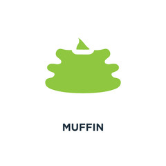 muffin sign icon. sweet cake concept symbol design, vector illus