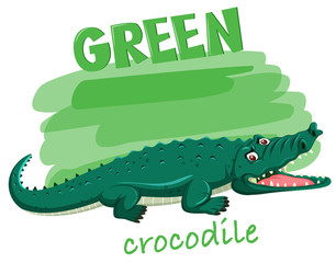 A Green crocodile concept