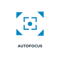 autofocus icon. digital photo camera, image concept symbol design, vector illustration