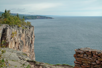 Panoramic View of Palisade Head at Tettegouche State Park in Northern Minnesota