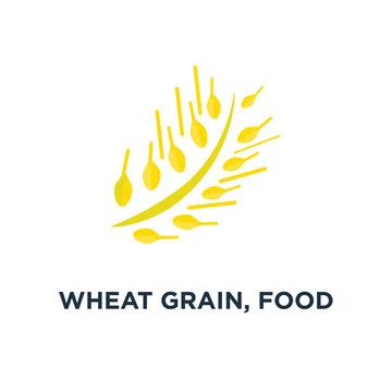wheat grain, food agriculture icon. healthy nutrition concept symbol design, vector illustration