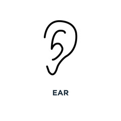 ear icon. ear concept symbol design, vector illustration