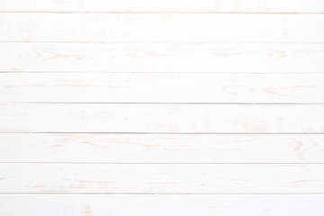 Top view of white wood texture background, wooden table. Wall mural