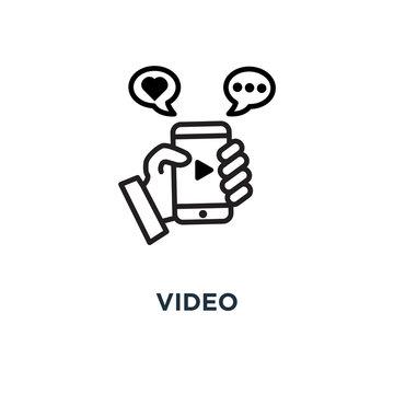 video icon. selfie concept symbol design, vector illustration